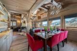 Megève Luxury Rental Chalet Sesane Dining Room