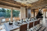 Megève Luxury Rental Chalet Sesanite Dining Area
