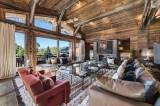 Megève Luxury Rental Chalet Sesanite Living Area