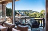 Megève Luxury Rental Chalet Sesanite Terrace