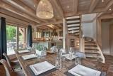 Morzine Luxury Rental Chalet Merlinate Dining Room