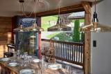 Morzine Luxury Rental Chalet Merlinte Dining Room