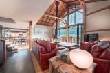 Morzine Luxury Rental Chalet Merlinte Living Room