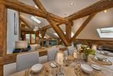 Morzine Luxury Rental Chalet Merlinute Dining Room