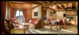 Peisey Vallandry  Location Appartement Luxe Marbre Duplex Salon
