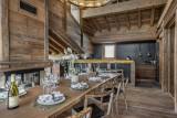 Saint Martin De Belleville Luxury Rental Chalet Ipaliu Dining Room