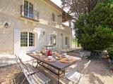 Saint Rémy De Provence Location Villa Luxe Molduvite Table Exterieur