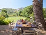 Saint Rémy De Provence Location Villa Luxe Molduvite Table Jardin