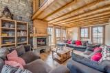 Tignes Luxury Rental Chalet Exokate Living Room 2