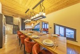Val Thorens Luxury Rental Chalet Olidan Dining Area