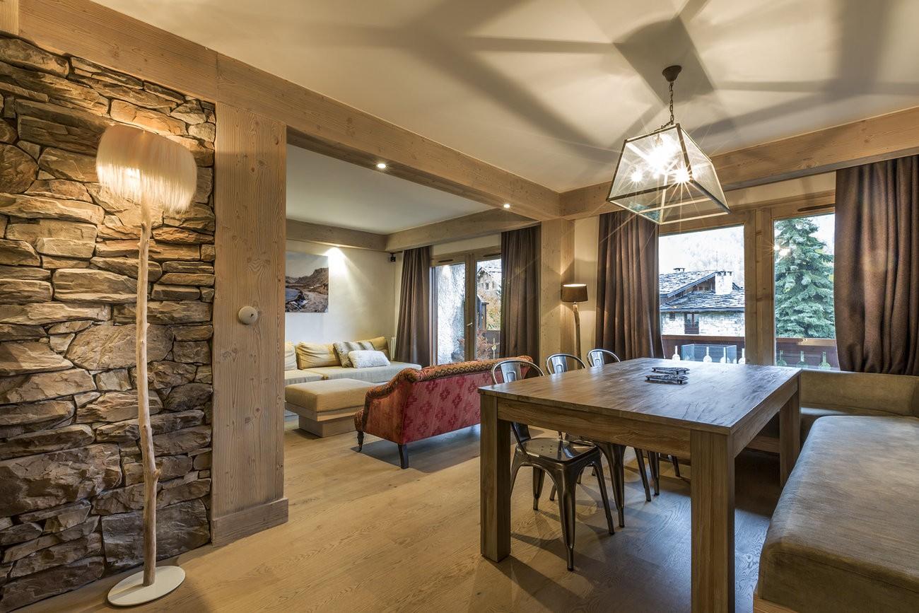 Val d'Isère Location Appartement Luxe Vadakite Séjour 4