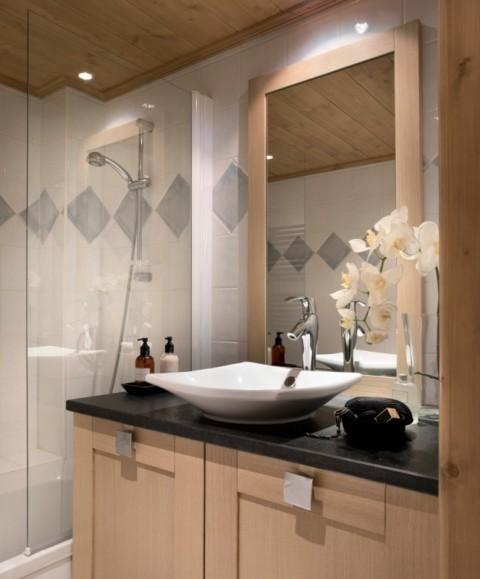 Alpe d'Huez  Location Appartement Luxe Acroite Duplex Salle De Bain