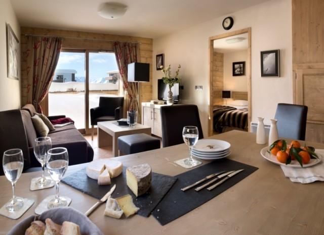 Alpe d'Huez  Location Appartement Luxe Acroita Duplex Salon 1