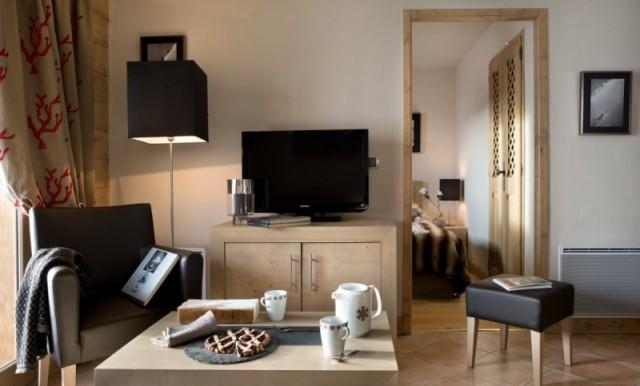 Alpe d'Huez  Location Appartement Luxe Acroita Duplex Salon