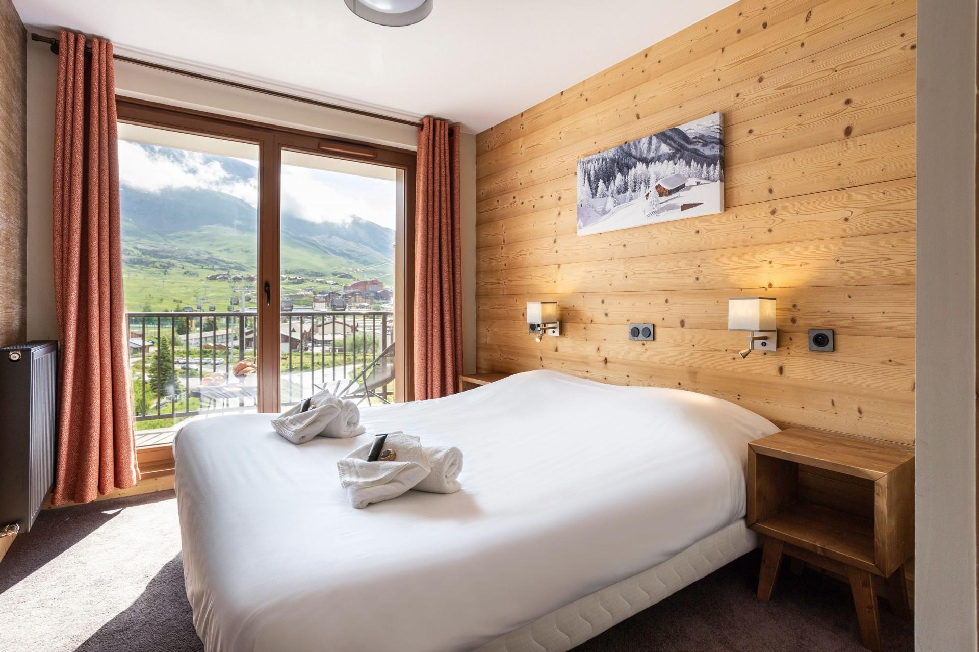 Alpe D'Huez Location Appartement Luxe Amarite Chambre