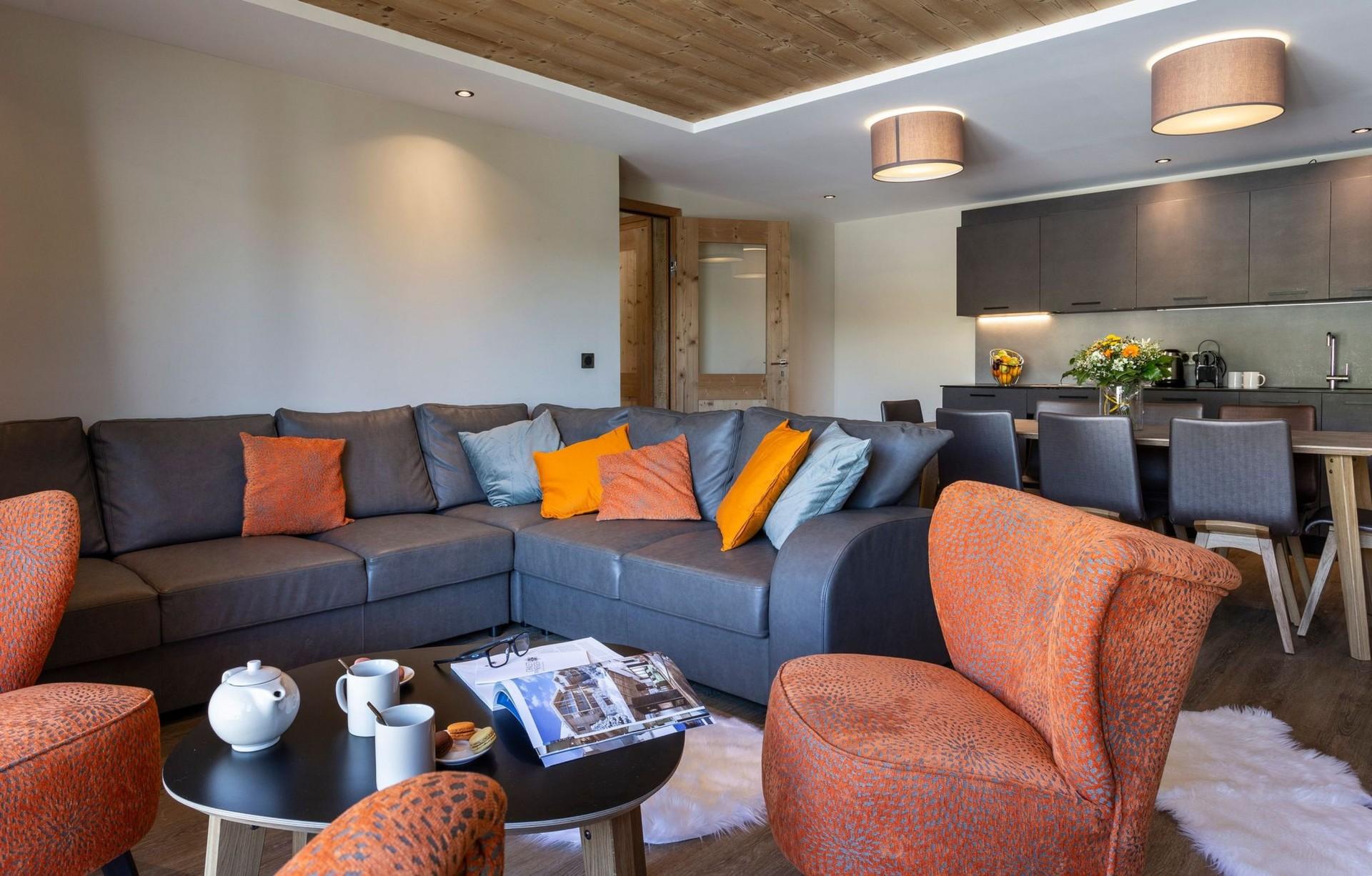 Alpe D'Huez Location Appartement Luxe Amarite Séjour