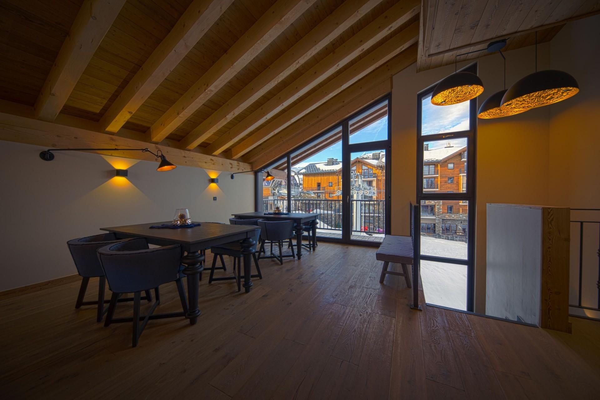 Alpe D'Huez Location Chalet Luxe Acenikite Salle A Manger