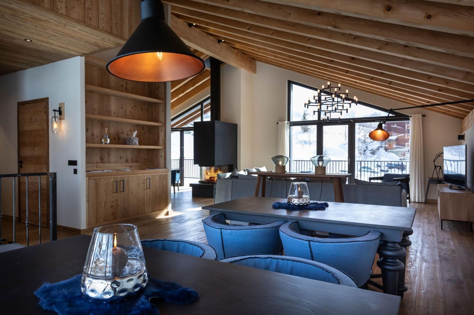 Alpe D'Huez Location Chalet Luxe Acenikite Séjour