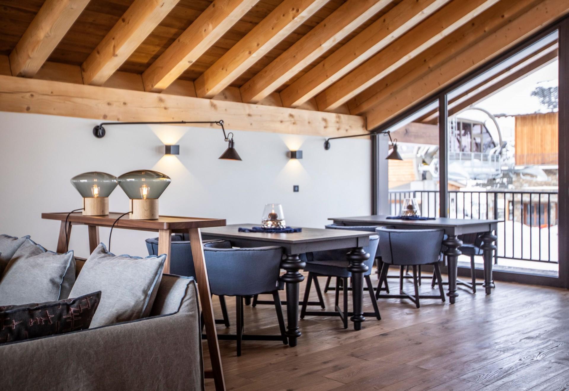 Alpe D'Huez Location Chalet Luxe Acenikite Table A Manger