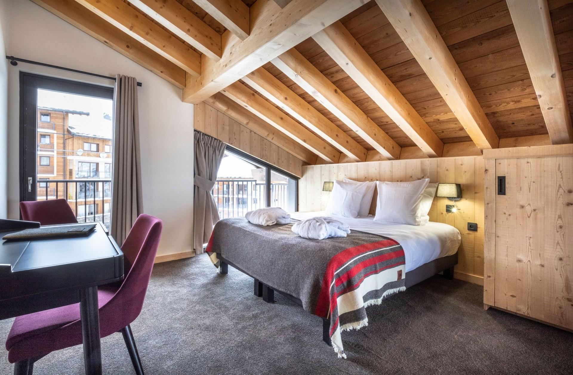 Alpe D'Huez Location Chalet Luxe Acenukite Chambre1