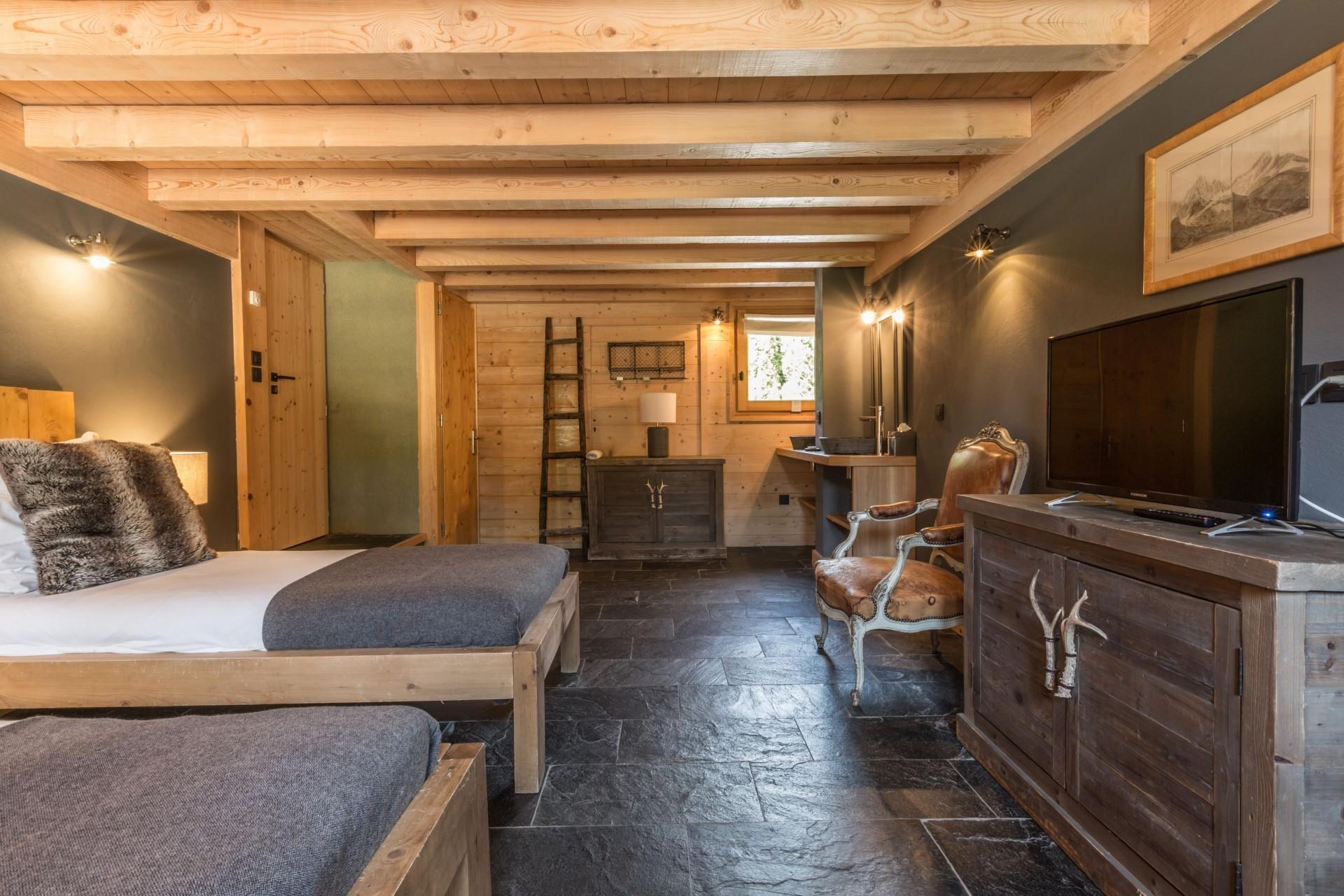 Argentière Location Chalet Luxe Calderite Chambre3