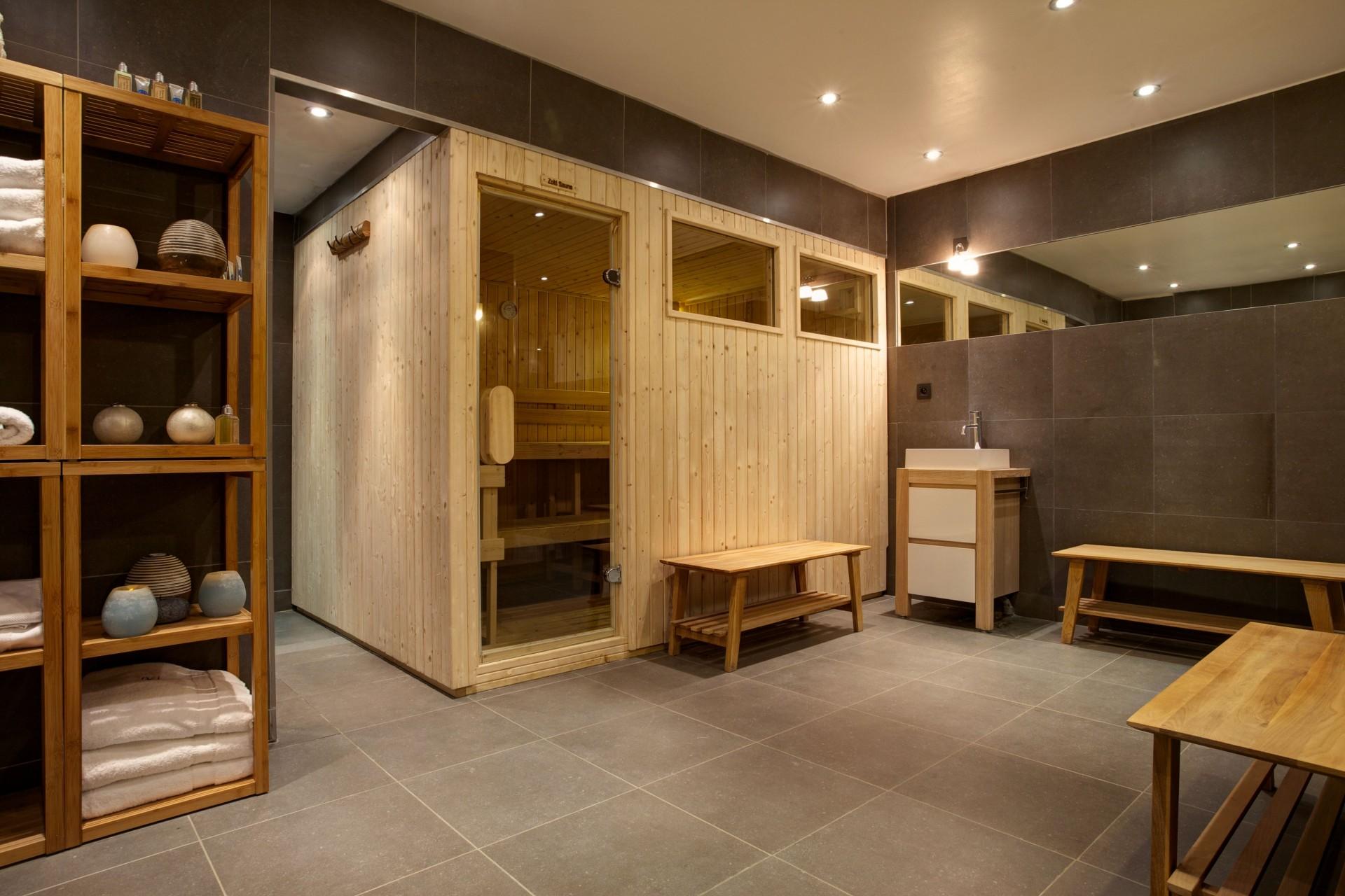 Argentière Location Chalet Luxe Calderite Sauna2