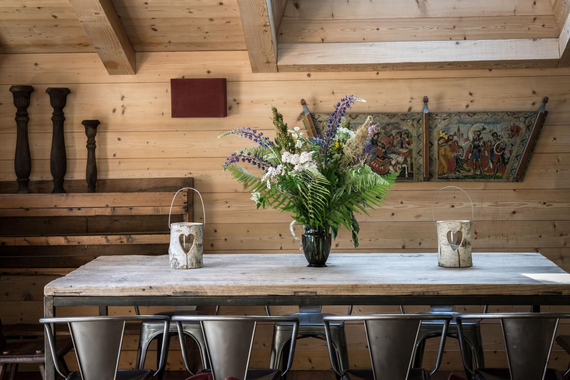 Argentière Location Chalet Luxe Calderite Table Repas