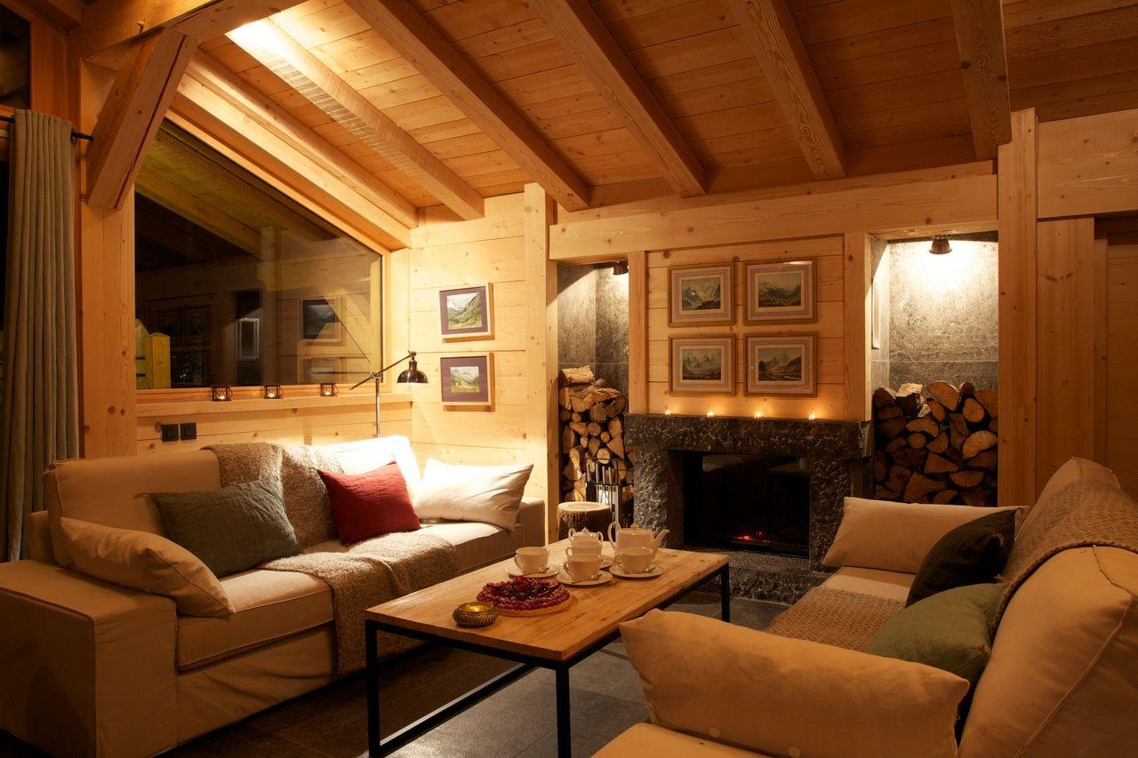 Argentière Location Chalet Luxe Callainite Séjour2