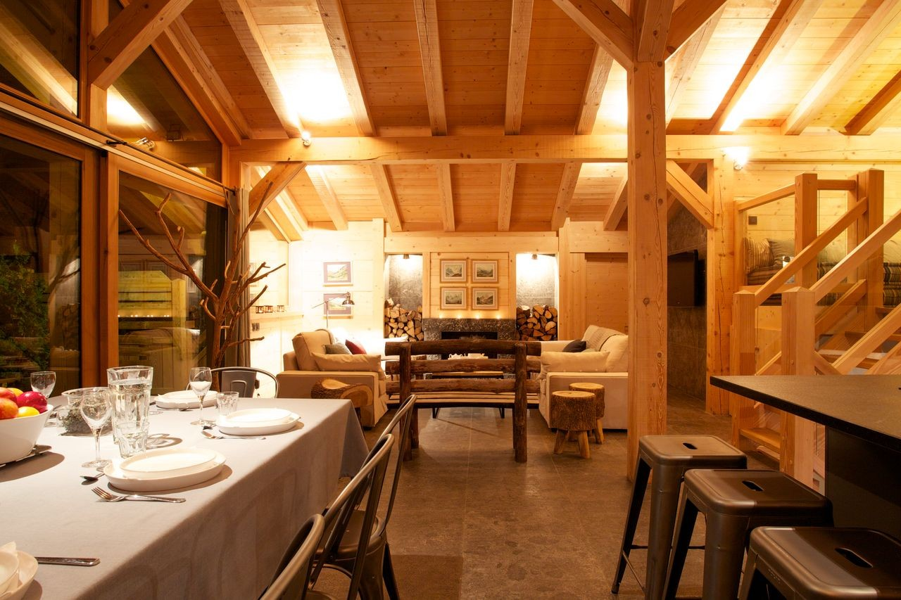Argentière Location Chalet Luxe Callainite Table Manger