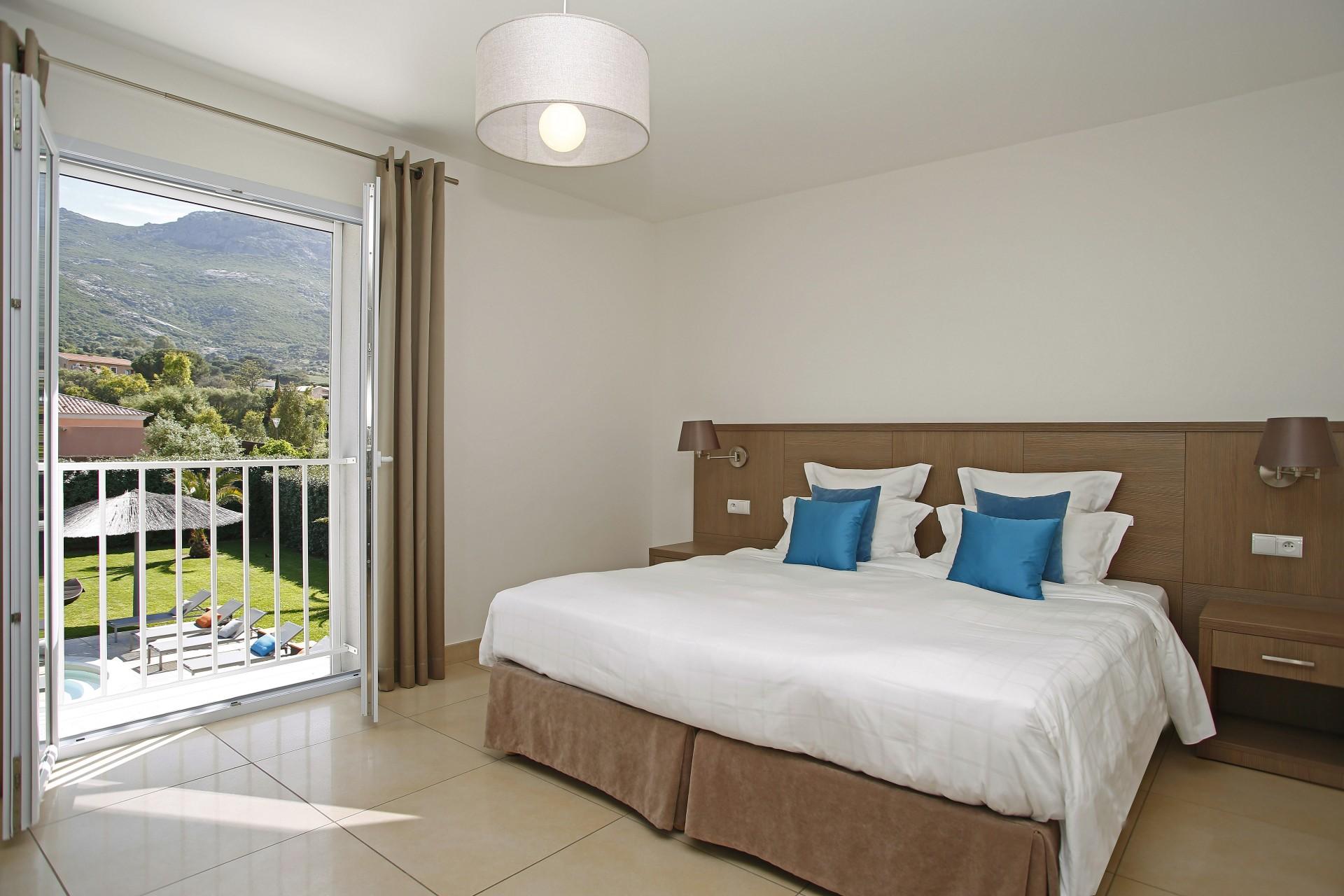 Calvi Location Villa Luxe Cresson Chambre