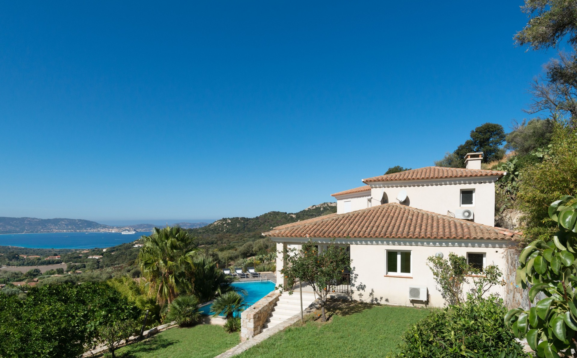 Calvi Location Villa Luxe Diademe Extérieur