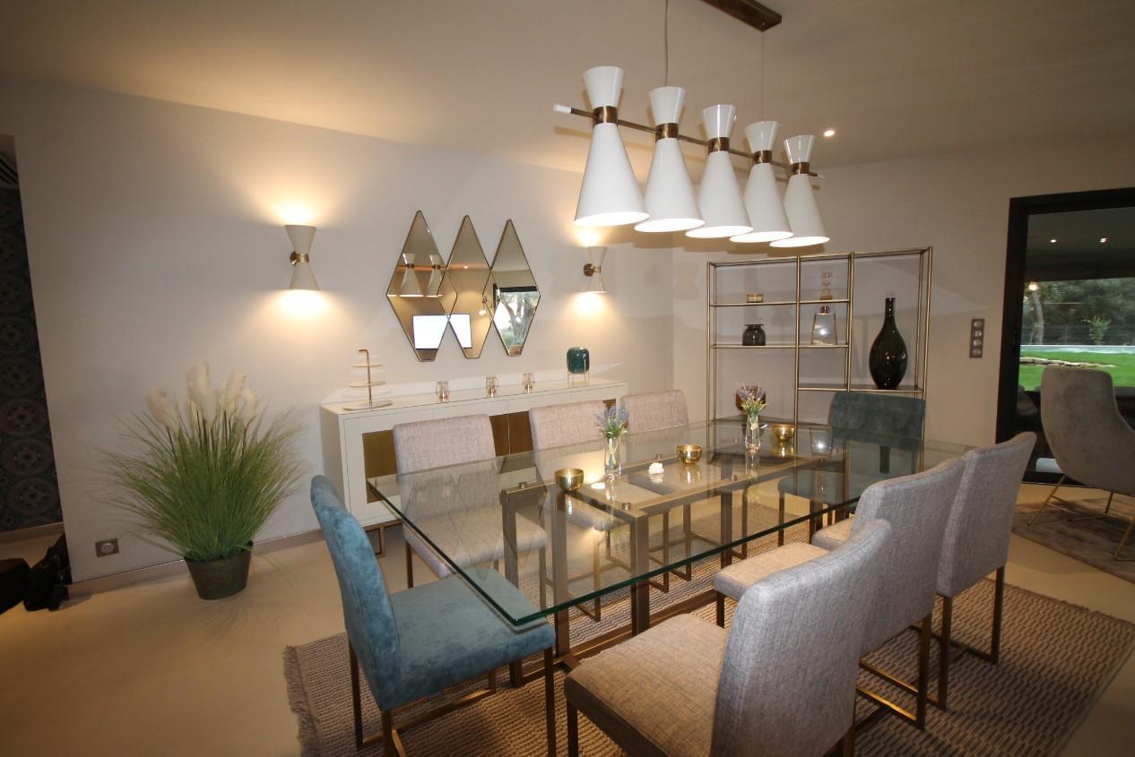 Cannes Luxury Rental Villa Cavanzite Dining Room