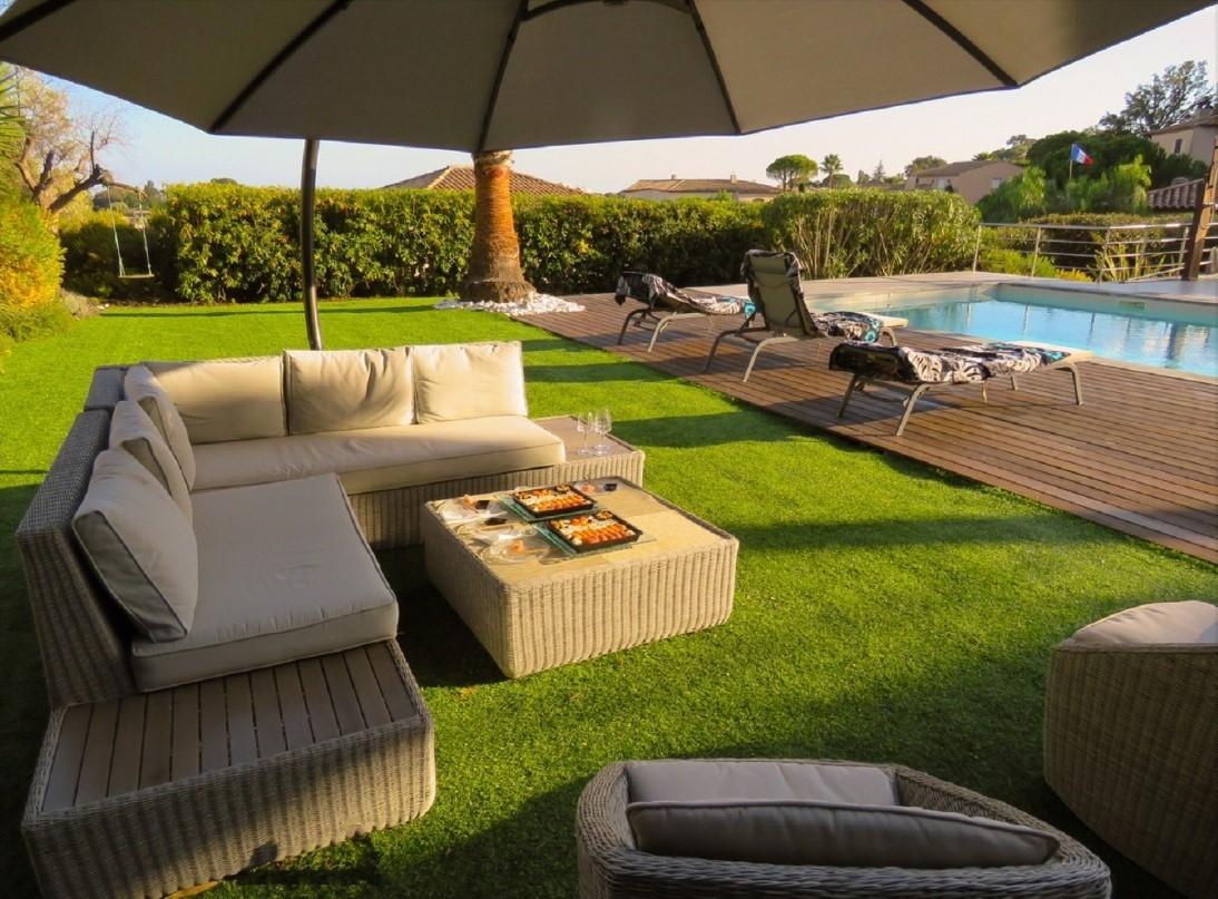 Cannes Luxury Rental Villa Coquelourde Garden Furniture