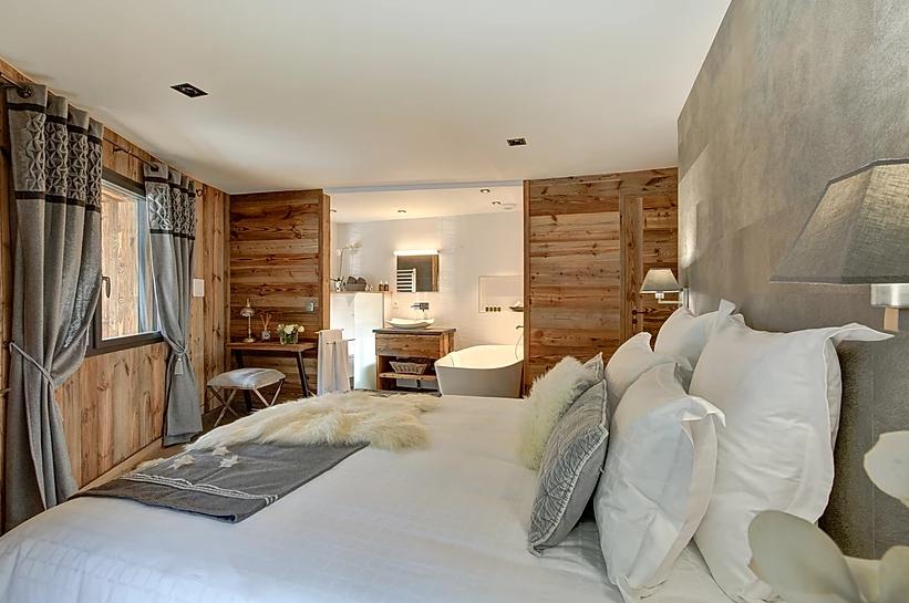 Chamonix Luxury Rental Appartment Courise Bedroom