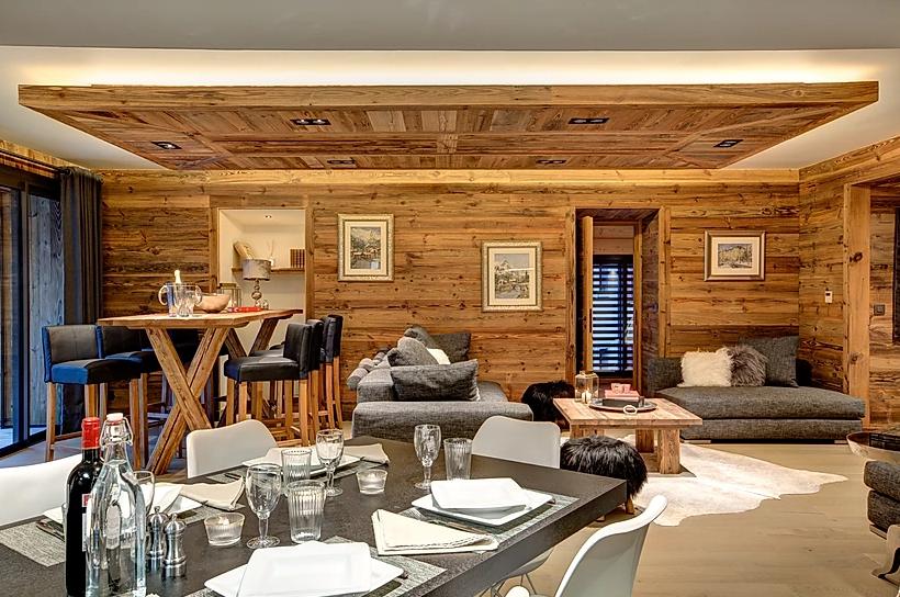 Chamonix Luxury Rental Appartment Courise Dining Room 2