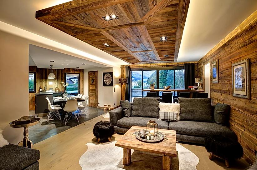 Chamonix Luxury Rental Appartment Courise Living Room 2