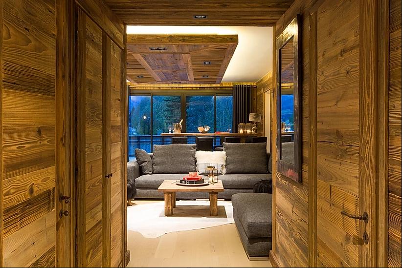 Chamonix Luxury Rental Appartment Courise Living Room