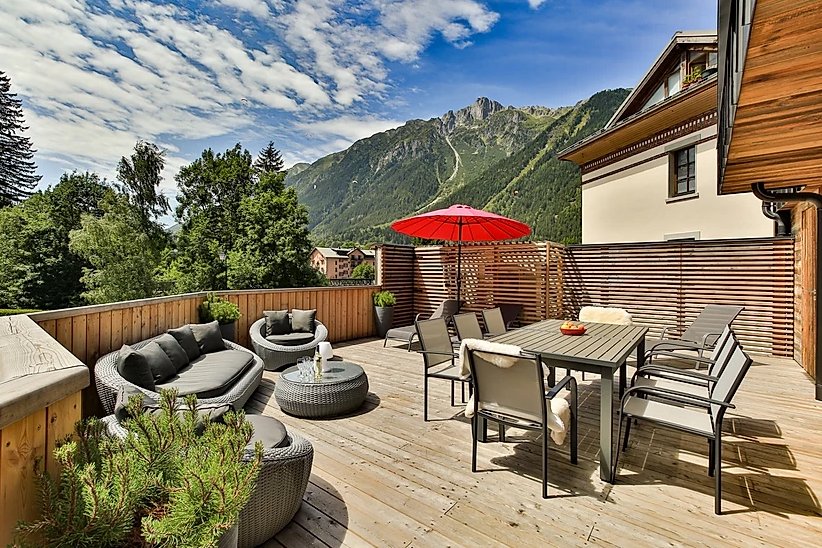 Chamonix Luxury Rental Appartment Courise Terrace 2