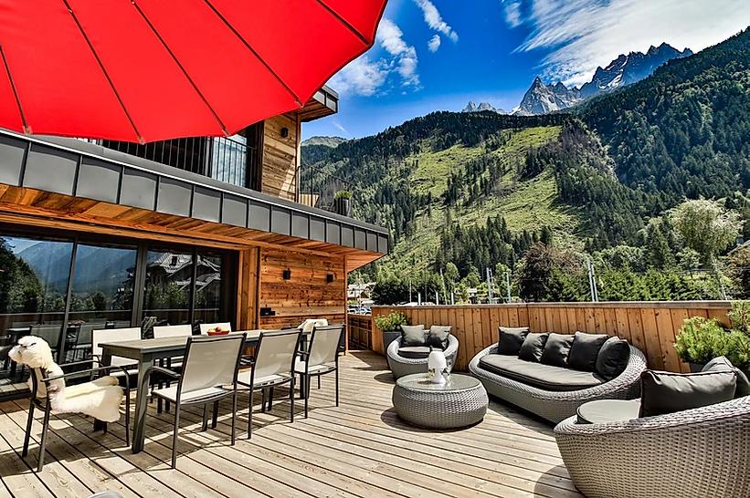 Chamonix Luxury Rental Appartment Courise Terrace 4