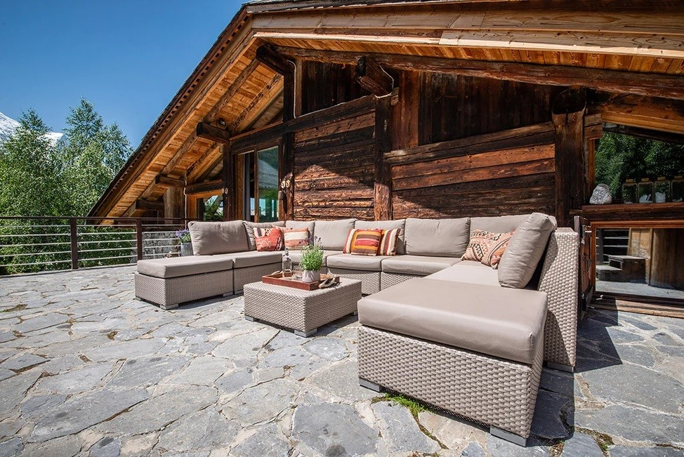 Chamonix Location Chalet Luxe Coquelois Terrasse