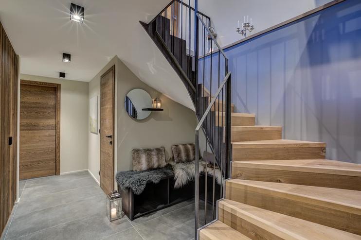 Chamonix Luxury Rental Chalet Coradi Stairs