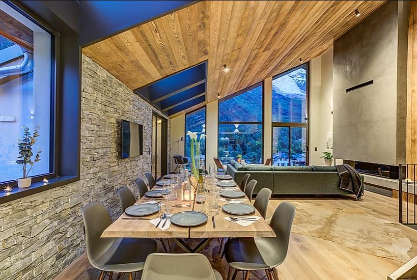 Chamonix Luxury Rental Chalet Coradi Dining Room 2
