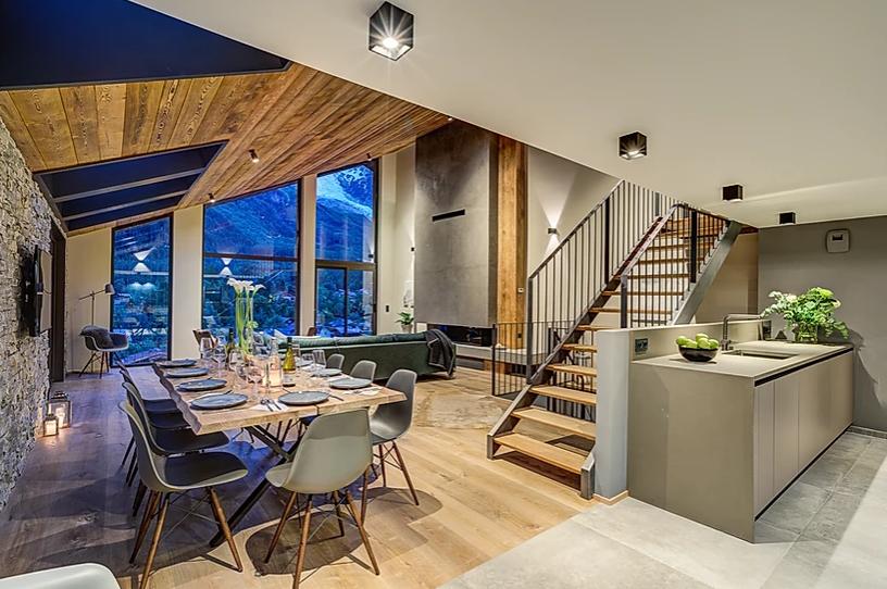 Chamonix Luxury Rental Chalet Coradi Dining Room 3