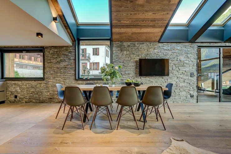 Chamonix Luxury Rental Chalet Coradi Dining Room 5