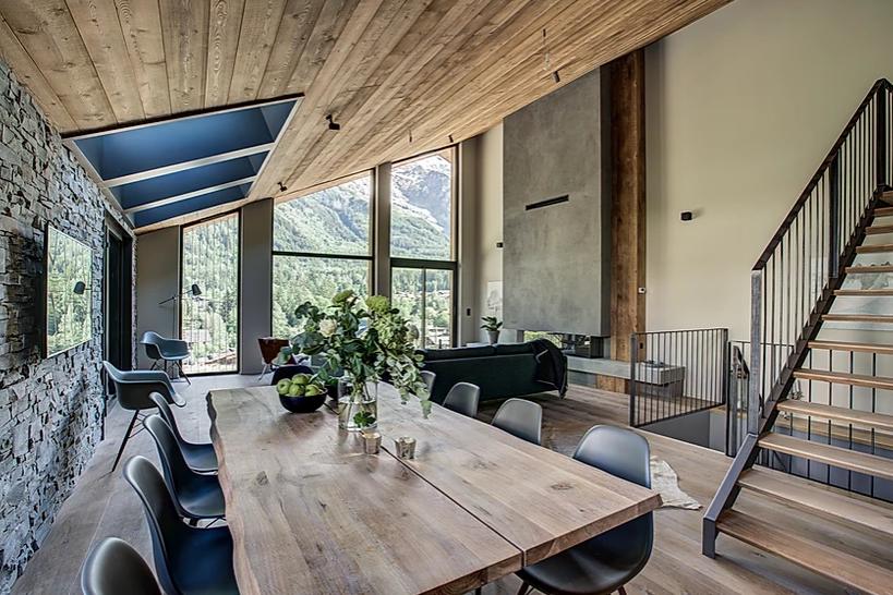 Chamonix Luxury Rental Chalet Coradi Dining Room