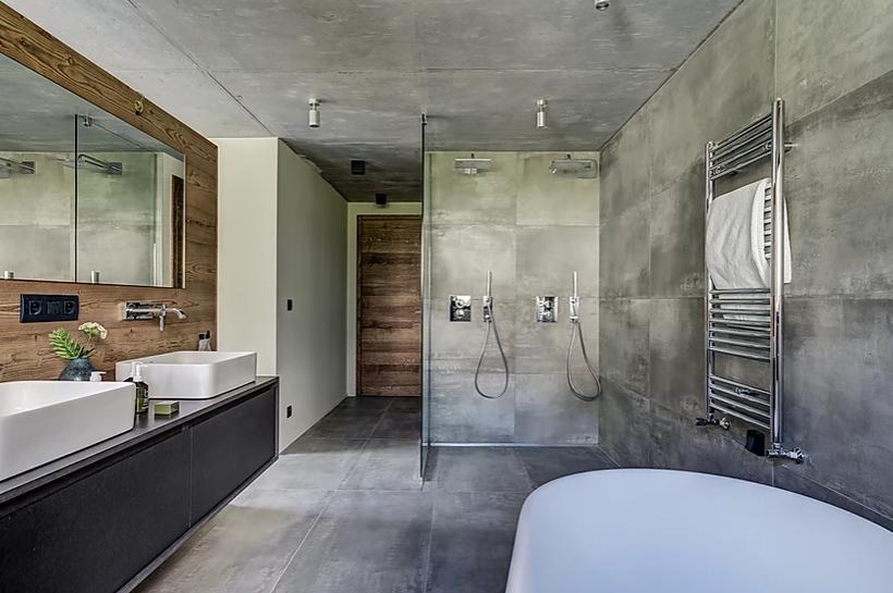 Chamonix Luxury Rental Chalet Coradi Bathroom
