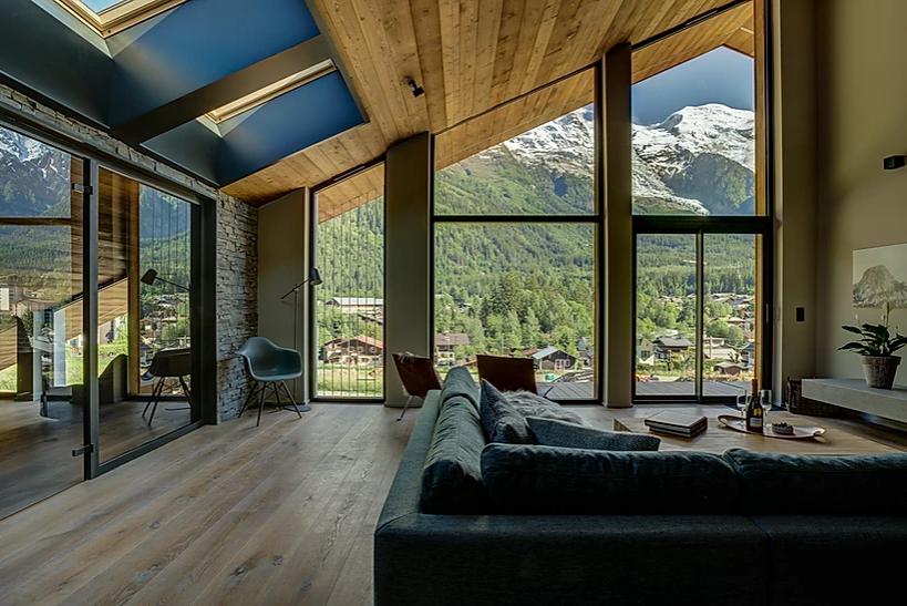 Chamonix Luxury Rental Chalet Coradi Living Room 2