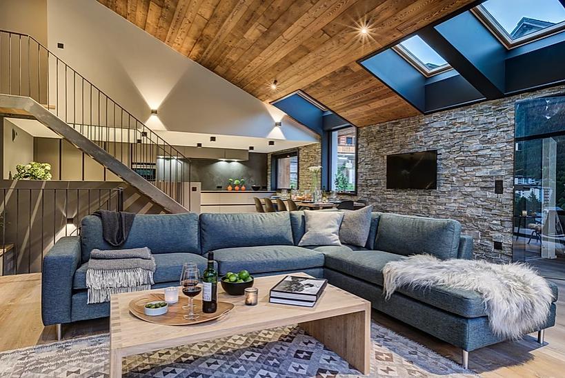 Chamonix Luxury Rental Chalet Coradi Living Room 3