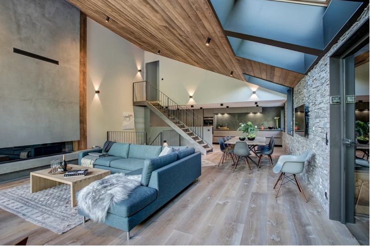 Chamonix Luxury Rental Chalet Coradi Living Room 5