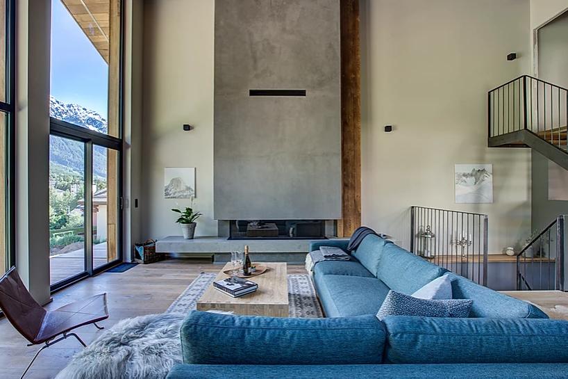 Chamonix Luxury Rental Chalet Coradi Living Room